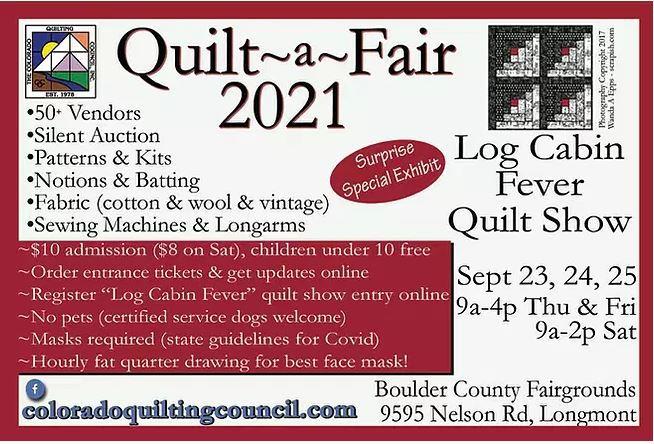 Quilt a Fair 2021 blurb