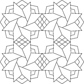 """#49014 Ninja Star, 10"""" Mini Wholecloth"""