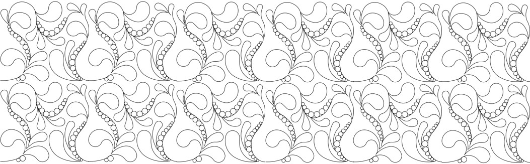 Pearl Feather Repeat Illustration Line-Art