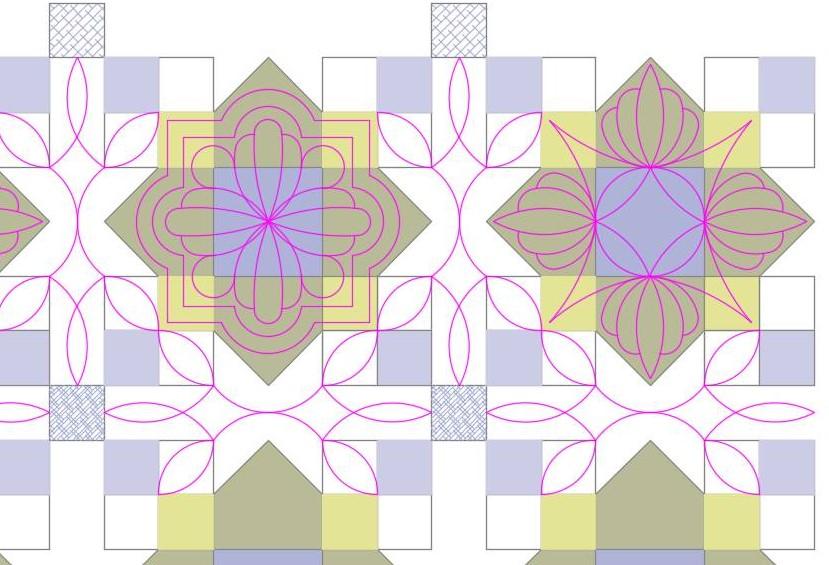 Quatrefoil Quilt Line Art