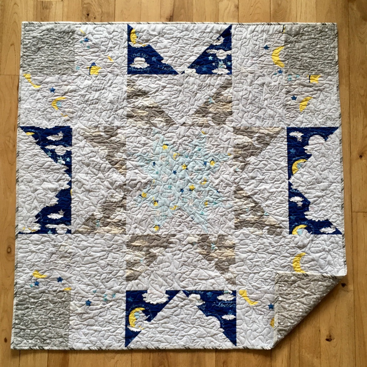 Toma Garst Starry baby quilt
